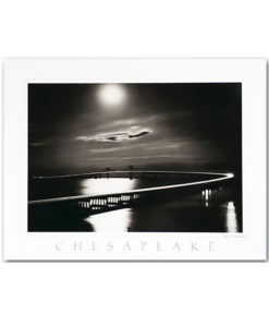 Chesapeake Bay Bridge print by M.E. Warren featuring his classic Black and White photograph