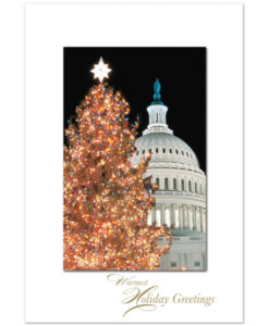 US Capitol Christmas tree greeting card