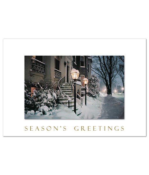 Evening in Georgetown holiday greeting cards