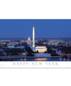 Happy New Year from Washington DC Card