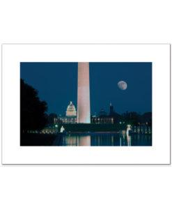 Washington DC at Night blank card