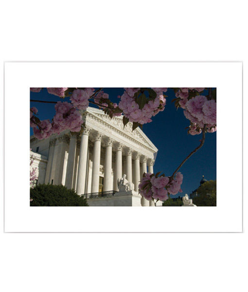 US Supreme Court in Spring blank card
