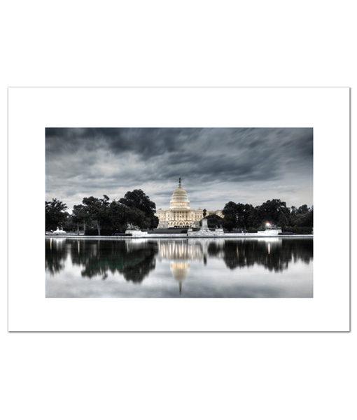 US Capitol at Dawn blank card