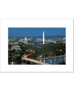 Above Washington DC blank cards