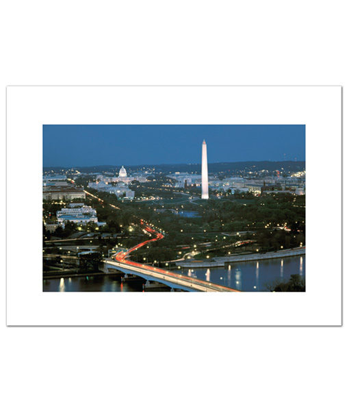 Above Washington DC blank cards