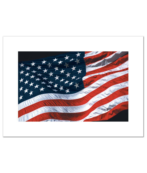 Old Glory blank cards