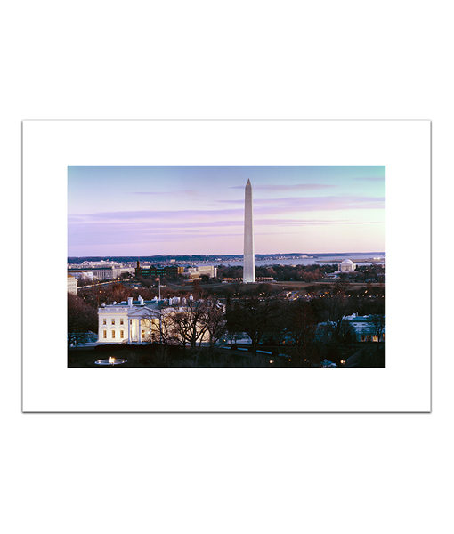 Washington DC at Dusk blank card