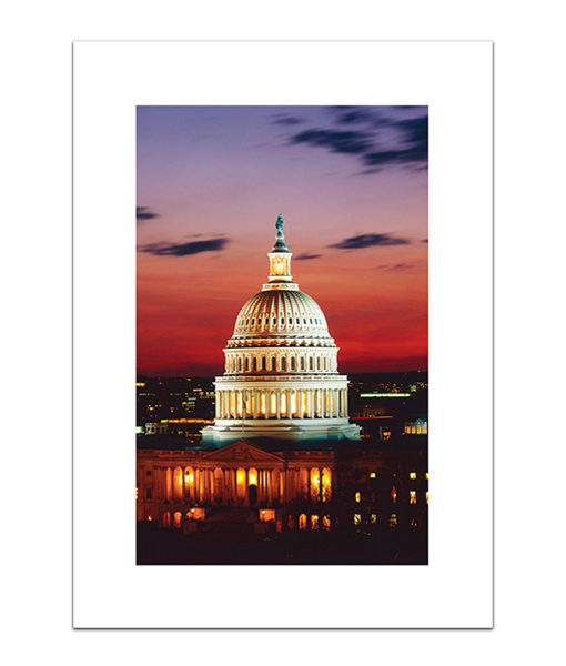 US Capitol Dome at Sunset blank card