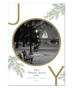 The National Mall holiday greeting card